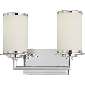 Minka lavery wall light fixtures 3722 77 pl vanities glass bath vanity lighting 2 light 26 for Minka bathroom light fixtures