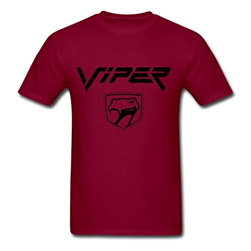 dodge-viper-logo-classic-t-shirt-for-man-burgundy-m
