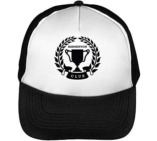 Badge Badminton Snapback Sport Negro Blanco Hombre Gorras Beisbol UadB8