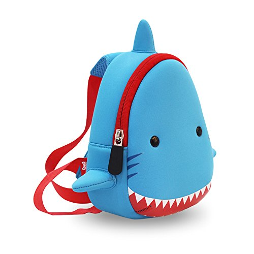 YISIBO Waterproof Kids Chest 3D Zoo Shark Cartoon School Sidesick Bags