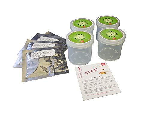 Fly Science Kiwi Fruit Fly Trap. Female Fruit Flies Need a Protein Meal of Yeast to Lay Eggs. We Attract Fruit Flies Out of Your Kitchen for a Month with Specialty Yeast. Non-Toxic, pet and Kid Safe.