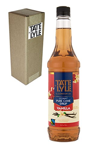 Tate+Lyle Fairtrade Pure Cane Sugar Vanilla Syrup, 750mL (25.4oz) Bottle, Individually Boxed