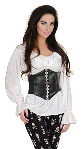 Underwraps Women's Renaissance Blouse, White, (Renaissance Costumes Diy)