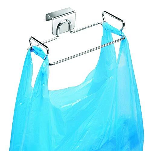 KABAKE Hanging Garbage Bags Storage Organizer Rack Stainless Steel Trash Bag Holder Towel Gloves Hanger for Kitchen Cabinet Cupboard Drawer Back Door Hook Hangers ()