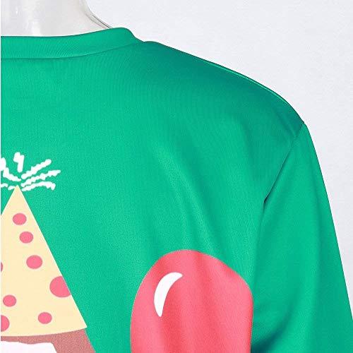 Inverno Per Manica Elegante Autunno Donna Camicia Green Felpa Con 1 Lunga Tempo Da Girocollo Maglione Il Giovane Top Libero Stampa Camicetta qtWvO