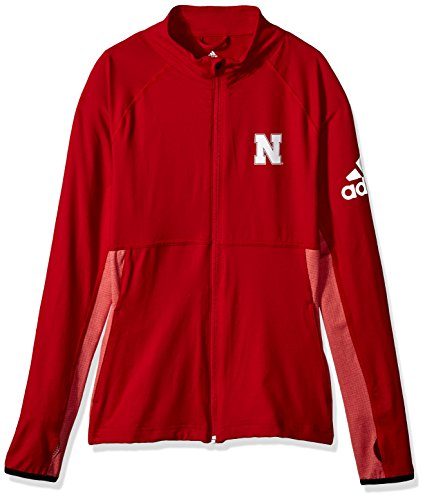 NCAA Nebraska Cornhuskers Adult Women Logo Performer Full Zip Jacket, X-Large, Power Red