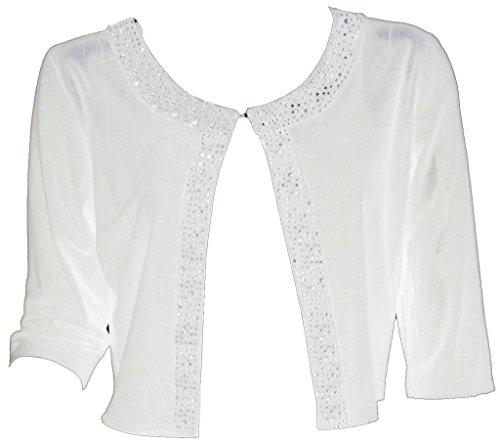 White Bolero Jackets - 1
