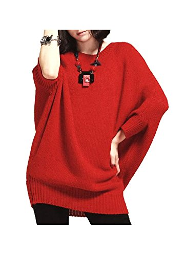 Cheap ARJOSA Women's Knitted Oversized Batwing Sleeve Casual Pullovers Sweater Loose Top supplier