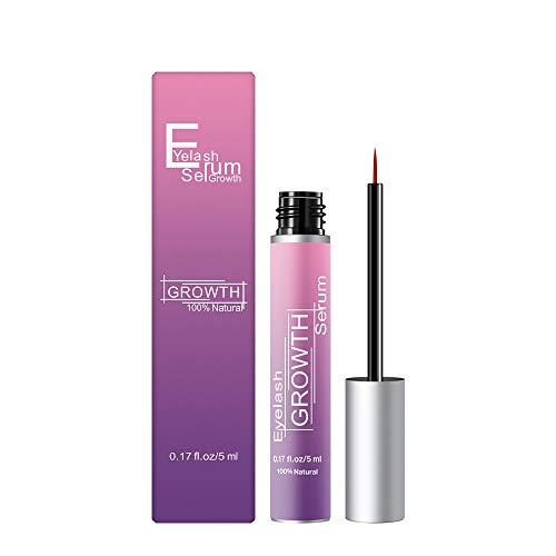 Eyelash Growth Serum - QEARLIZ 2019 Newest 100% Natural Extract Eyelash Enhancer Growth Serum, Eyelash Growth Treatment for Longer Fuller Thicker And Strong Eyelash(5ml)