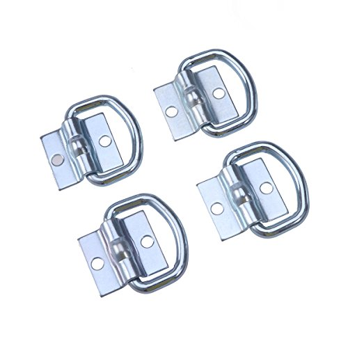 WINOMO 4pcs Tie Down D Ring Load Anchor Trailer Anchor Lashing Ring for Cargo (Lashing Ring)