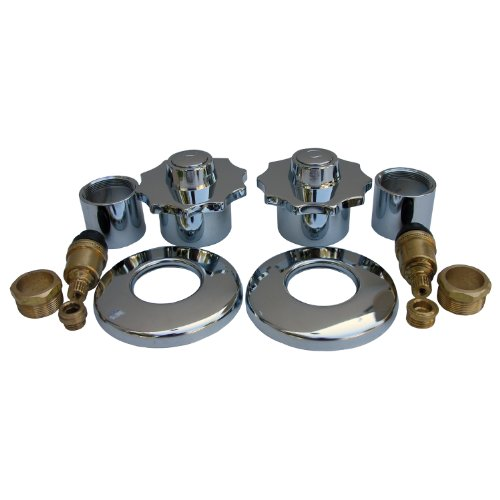 LASCO 01-9407 American Standard Heritage Series Two Valve Tub or Shower Trim Kit with Stems Handles, Flanges and Nipples