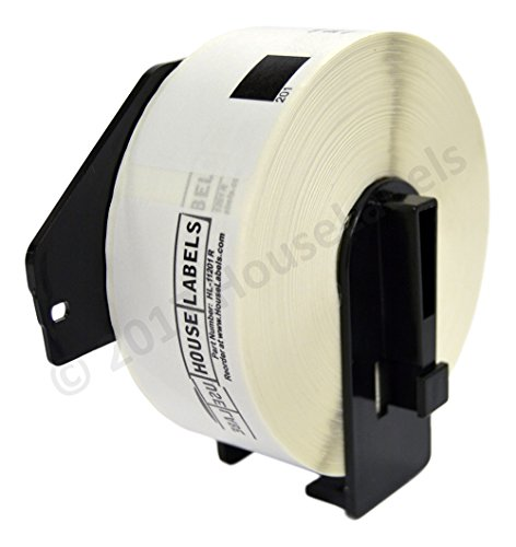 (Ships Fast 2 Rolls; 400 Labels per Roll of HouseLabels Compatible with Brother DK-1201-R Removable Address Labels with ONE Reusable Cartridge (1-1/7