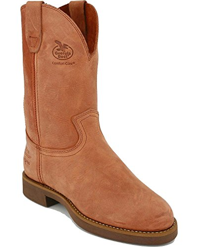 Georgia G5814 Men's 11-in Wellington Heritage Boot Prairie Chestnut 10 M US - Ranch Wellington Boots