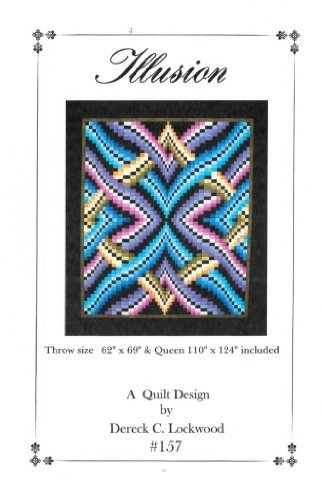 Illusion Quilt Pattern, Bargello Pieced from Yardage, 2 Size (2 Quilt Patterns)