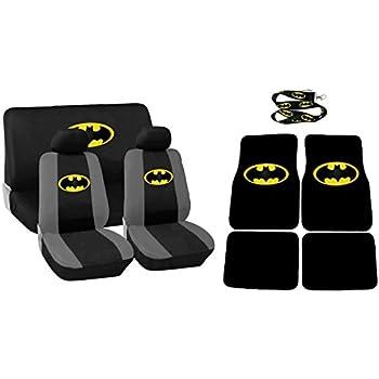 13 piece auto interior car truck gift set batman classic logo 2 front seat. Black Bedroom Furniture Sets. Home Design Ideas