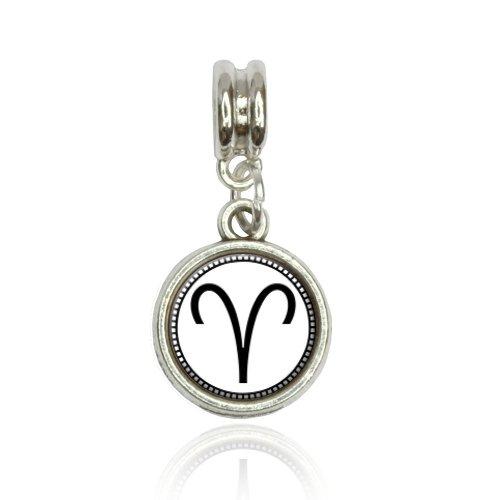 Zodiac Sign Aries Euro European Italian Style Bracelet Bead Charm