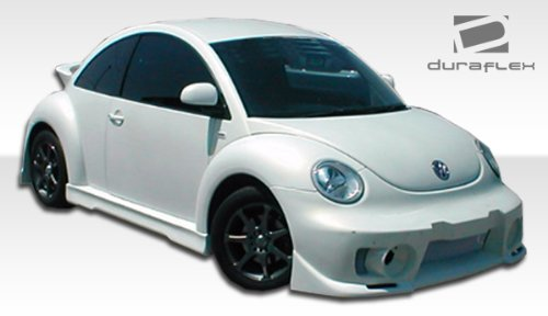 Side Evo Skirts 4 (1998-2005 Volkswagen Beetle Duraflex Evo 5 Body Kit - 4 Piece - Includes Evo 5 Front Bumper Cover (102176) Evo 5 Side Skirts Rocker Panels (105659) Evo 5 Rear Bumper Cover (105660))