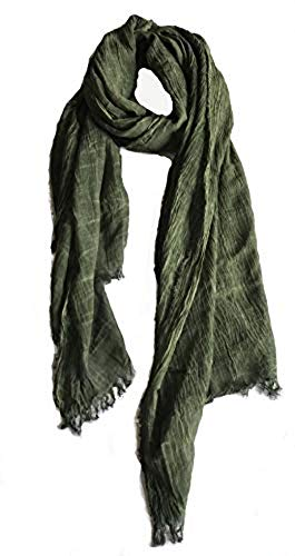 (Colby&Co 100% Pure Natural Cotton, No Synthetic Fibers, Unisex, Scarves - Multi Colors/Styles (Pine Green))