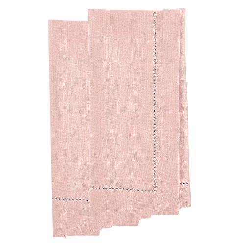 Martha Stewart Collection Harvest Napkins, Pink (Set of 2) (Pink Linen Napkins)