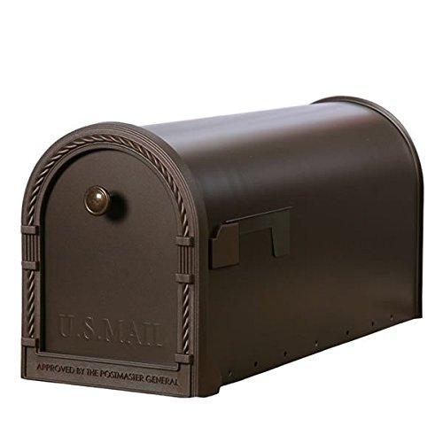 Gibraltar DM160V01 Designer Steel Post Mount Mailbox with Decorative Frame in Venetian Bronze