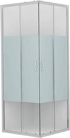 vidaXL Mampara de Ducha con Vidrio de Seguridad Baño Fregadero Fontanería Bricolaje Instalación Decoración Grifería Sanitario Bañera 80x80x185 cm: Amazon.es: Hogar
