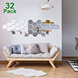 32 Pieces Removable Acrylic Mirror Setti…