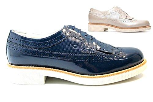 Ville Pour Giardini Nero Femme Chaussures À Lacets De Bleu tPOn7q