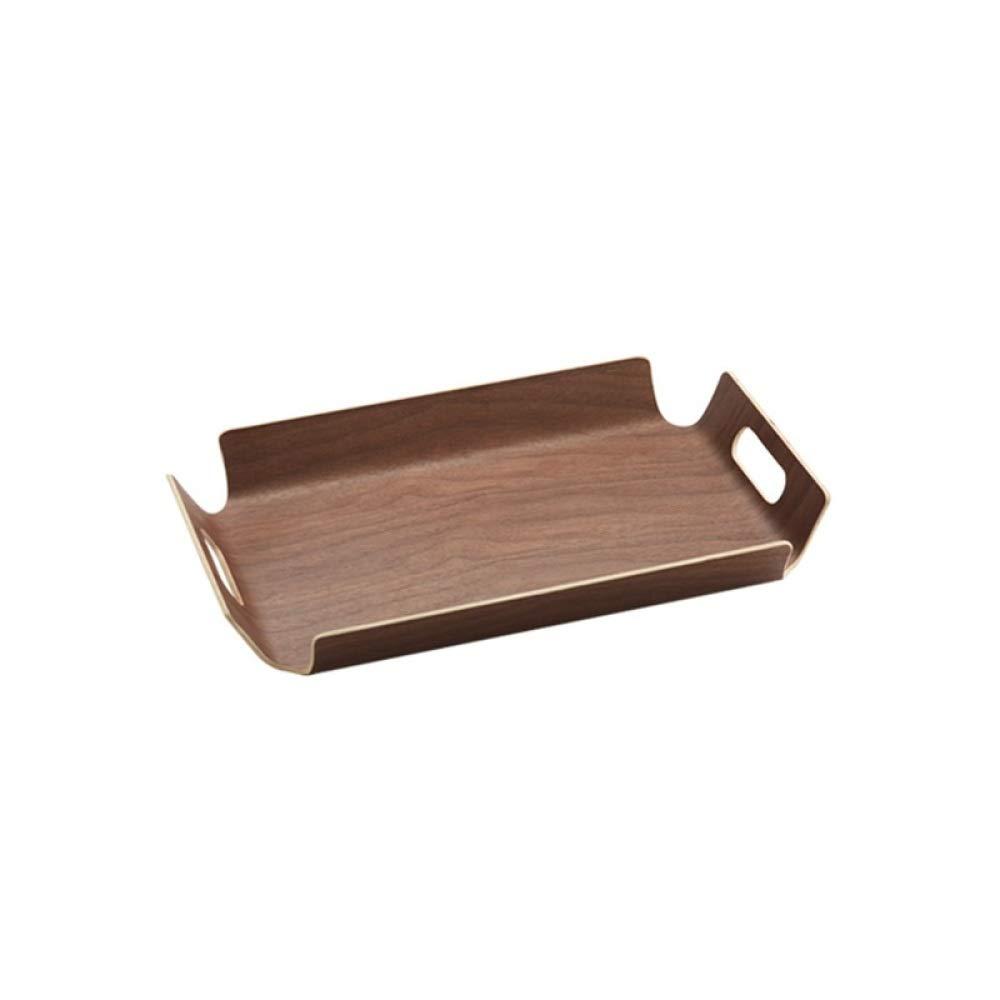 Tray Hote Breakfast Wooden For Desserts Bread Serving Home Fruit Tea Rectangular