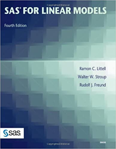 Amazon com: SAS for Linear Models, Fourth Edition