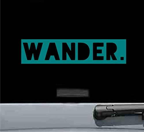 Wander Vinyl Decal Sticker (TEAL) (10500 Brake)