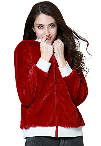 LONDON RAG - Sweat-shirt - Femme - Rouge - Medium