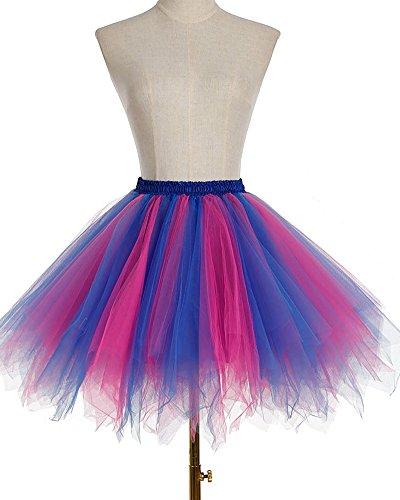 Donne Multicolore Gonna A Ballerina Colore Abito Caramella Tulle Skirt Tutù Mini Della Vestito Z Danza Tutu Classica Ballo jLA45R