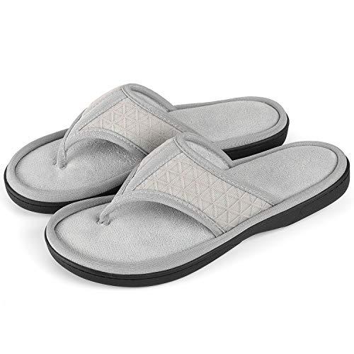 fe72c10f3e75f ULTRAIDEAS Women s Memory Foam Flip Flop Slippers with Cozy Terry Lining