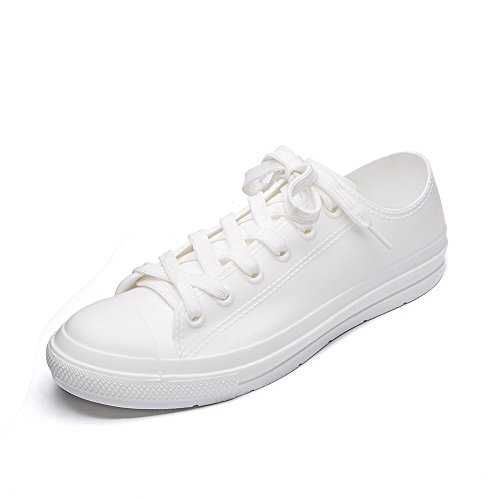Shoes up Ankle Gardening UK White Walking 8 Women's Lace Short Ladies Rain 3 5 Waterproof Boots DKSUKO Shoes SwE7nqxgwC