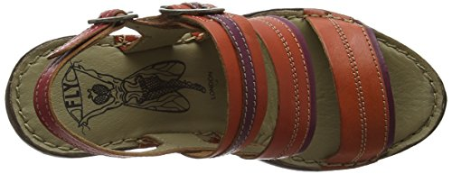 FLY London SALM631FLY - Sandalias Mujer Multicolor (STREETRED/MAGENTA/RED 002)