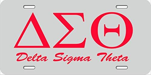 Delta Sigma Theta License Plate Frame Black - Best Plate 2018