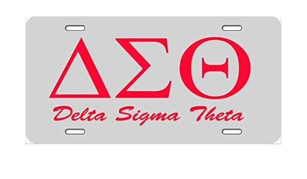 Delta Sigma Theta License Plate Frame 100 Years - Best Plate 2018