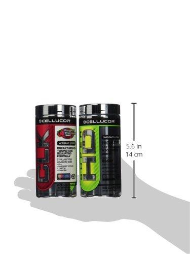 CELLUCOR SUPER HD & CLK COMBO Best Stack For Fat Loss 60 caps each Bottle