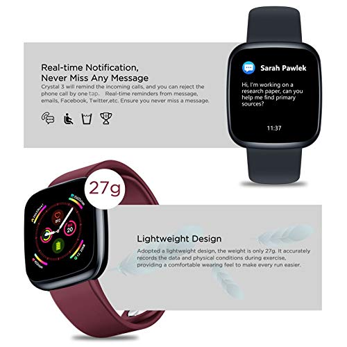 Amazon.com: Docooler Zeblaze Crystal 3 Smart Watch 1.3 ...