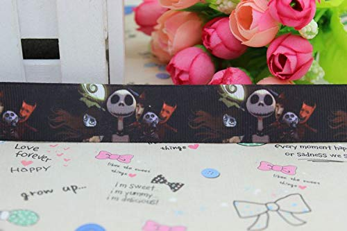 CHITOP Nightmare Before Christmas | 7/8'' Nightmare Before Christmas Printed Grosgrain Ribbon hairbow DIY Party Decoration Wholesale OEM 22mm p2030