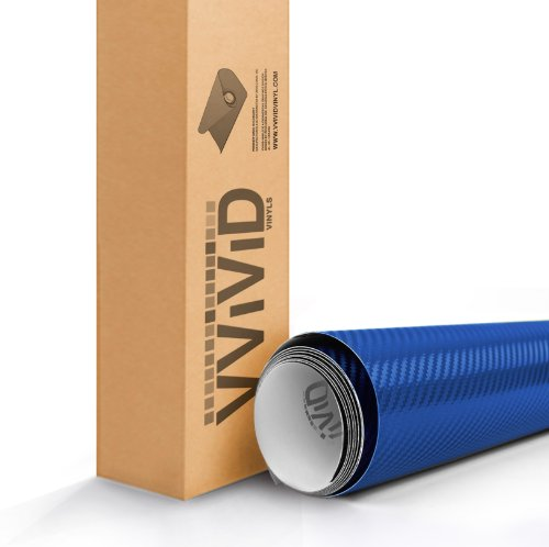 - VViViD XPO Electric Blue 3D Carbon Fiber Vinyl Wrap Roll with Air Release Technology (6ft x 5ft)