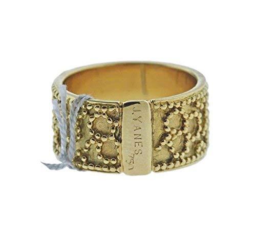Fabulous Designer Yanes 18K Yellow Gold Beaded Eternity Band Ring