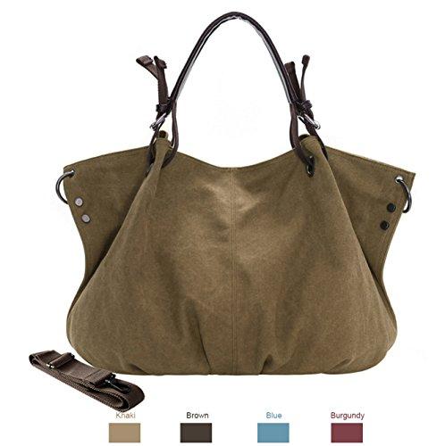 Hobo Tote Vintage Messenger Top Women Shoulder Bags Khaki Canvas Bags Chikencall Handbags Casual Big Shopper XBwgP