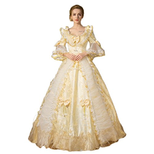 Zukzi Women's Floor Length Victorian Dress Costume Masquerade Ball Gowns, Z03403, Medium by Zukzi
