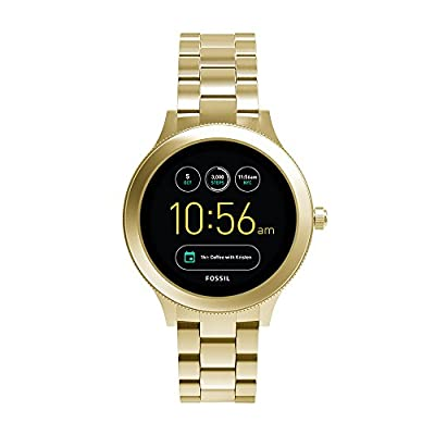 Fossil Q Women's Gen 3 Venture Stainless Steel Smartwatch, Color: Gold-Tone (Model: FTW6006)