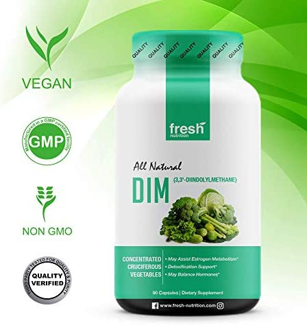 DIM Supplement 500mg - DIM Diindolylmethane - All Natural Estrogen & Hormone Balance Supplement Great for Detox, Menopause Relief, Acne, PCOS, Weight Loss & Bodybuilding – Vegan Friendly 4