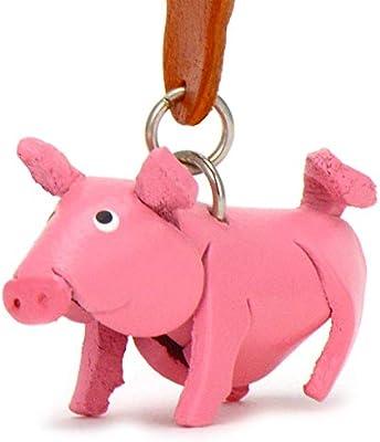 Monkimau Cerdito Babe - Pequeño cerdo de llaves colgante de ...