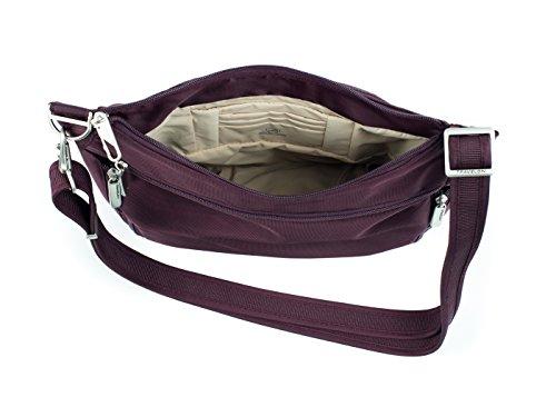 Anti Theft Black Raisin Travelon Bucket Size Bag Cross One Body HT7pq