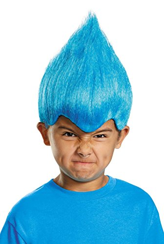 Disguise Blue Wacky Child Wig, One Size Child, One Color (Easy Kids Halloween Costumes)