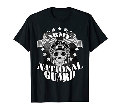 (Skull Army National Guard T-Shirt Veterans Civilians Gift)